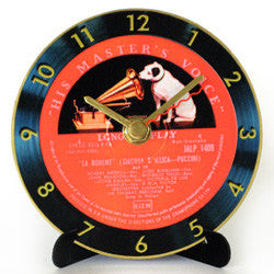 M03 His Masters Voice Mini LP Clock