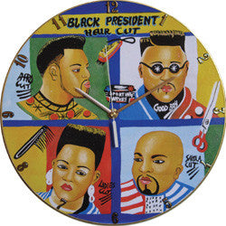 B06 Black President Haircuts Record Clock