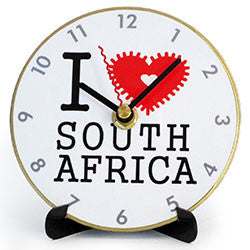 I07 I Love South Africa Mini LP Clock