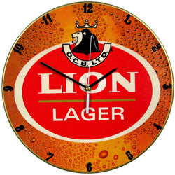 C08 Lion Lager Record Clock
