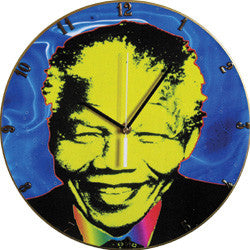 B01 Madiba Blue Record Clock