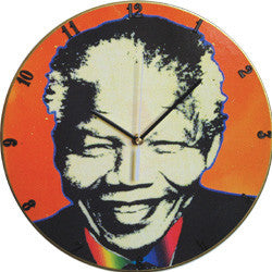 B03 Madiba Orange Record Clock