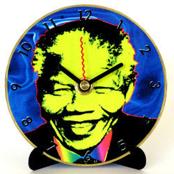 I01 Madiba Blue Mini LP Clock