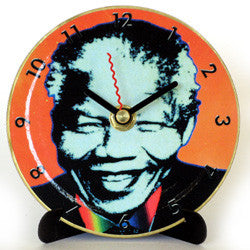 I03 Madiba Orange Mini LP Clock