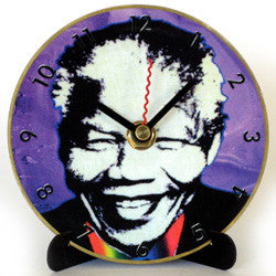 I02 Madiba Purple Mini LP Clock