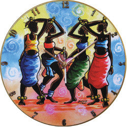 B22 Moleke Dance Record Clock