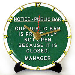J11 Public Bar Mini LP Clock