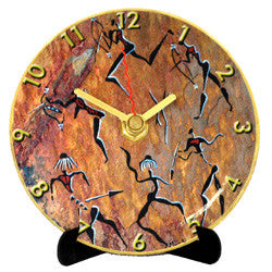 I24 Rock Art Dance Mini LP Clock