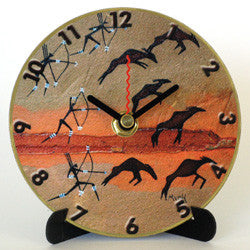 I25 Rock Art Hunt Mini LP Clock