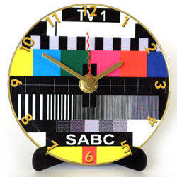 I04 SABC TV1 Orange Mini LP Clock