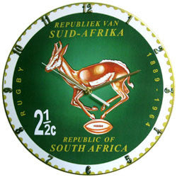 D07 Springbok Rugby Stamp Record Clock