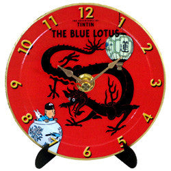 L09 Tintin Blue Lotus Mini LP Clock