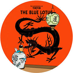 R09 Tintin Blue Lotus Fridge Magnet