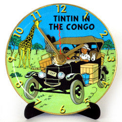 L08 Tintin in Congo Mini LP Clock