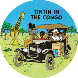 R08 Tintin in Congo Fridge Magnet