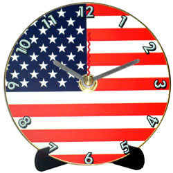 J16 Stars & Stripes Mini LP Clock