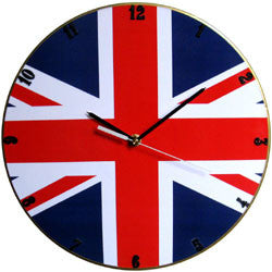 C15 Union Jack Record Clock