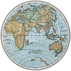 O30 World Map Fridge Magnet