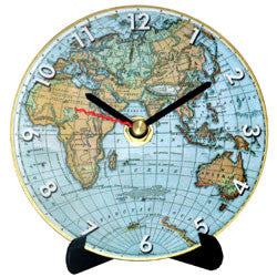 I30 World Map Mini LP Clock