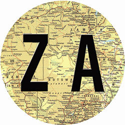 O10 ZA on Map Fridge Magnet