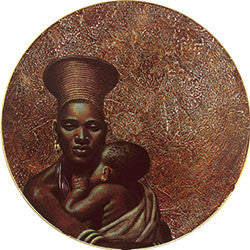 O18 Zulu Mother & Child Fridge Magnet