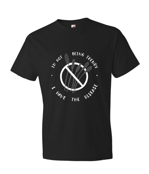 """I'm Not Being Trendy"" - Men's Black T-shirt for Celiacs"