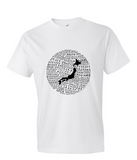 Food Map of Japan - Men's White Crew Neck T-Shirt