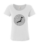 Food Map of Japan - Women's White Scoop T-Shirt