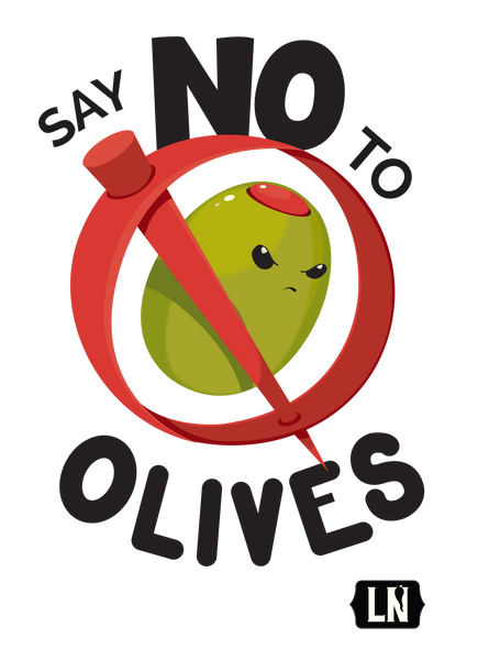 Say No To Olives - Sturdy Canvas Tote Bag