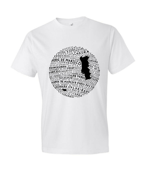 Food Map of Portugal - Men's White Crew Neck T-Shirt