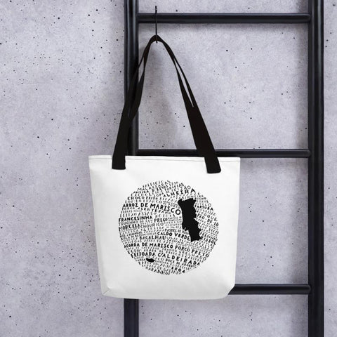 Portugal Food Map - Sturdy Tote Bag