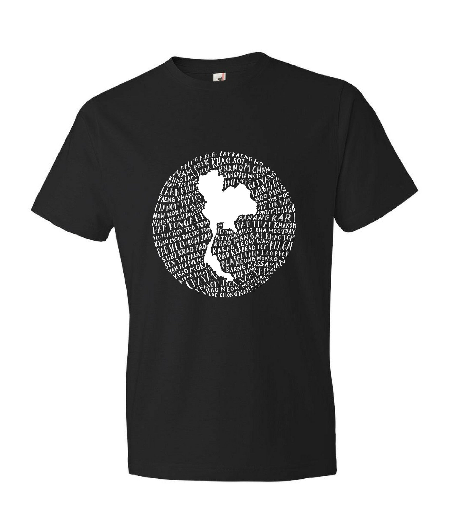 Food Map of Thailand - Men's Black Crew Neck T-Shirt