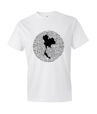 Food Map of Thailand - Men's White Crew Neck T-Shirt