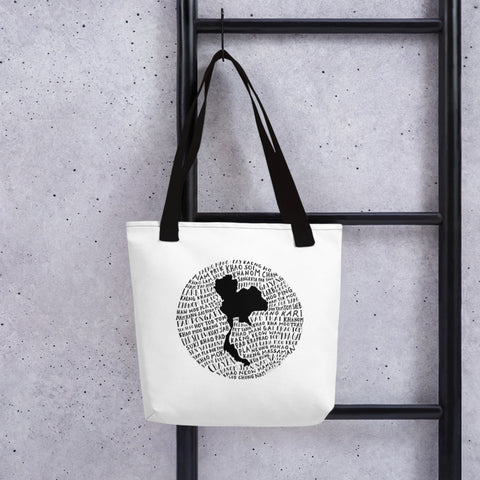 Thailand Food Map - Sturdy Tote Bag