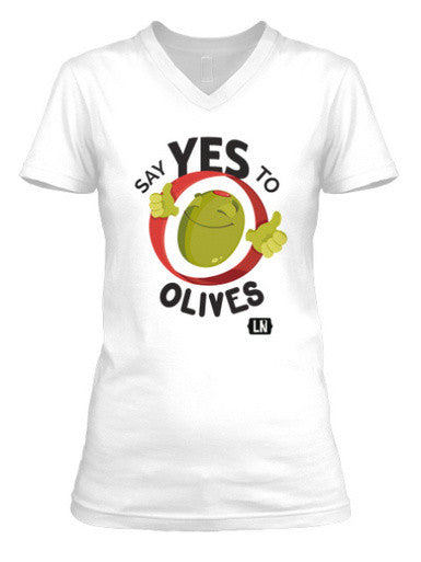 Say Yes to Olives -- Women's Scoop T-shirt