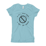"""I'm Not Being Trendy"" - Girls' Powder Blue T-Shirt (Special Edition)"