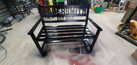 LaserSmith Bench, painted black