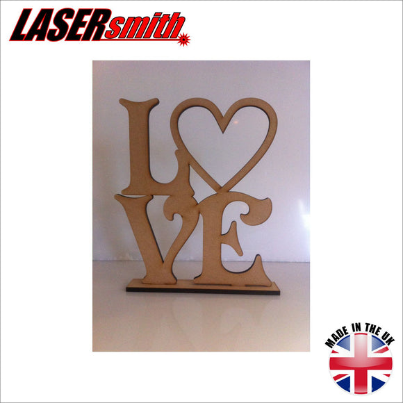 Freestanding Love sign - Cut out