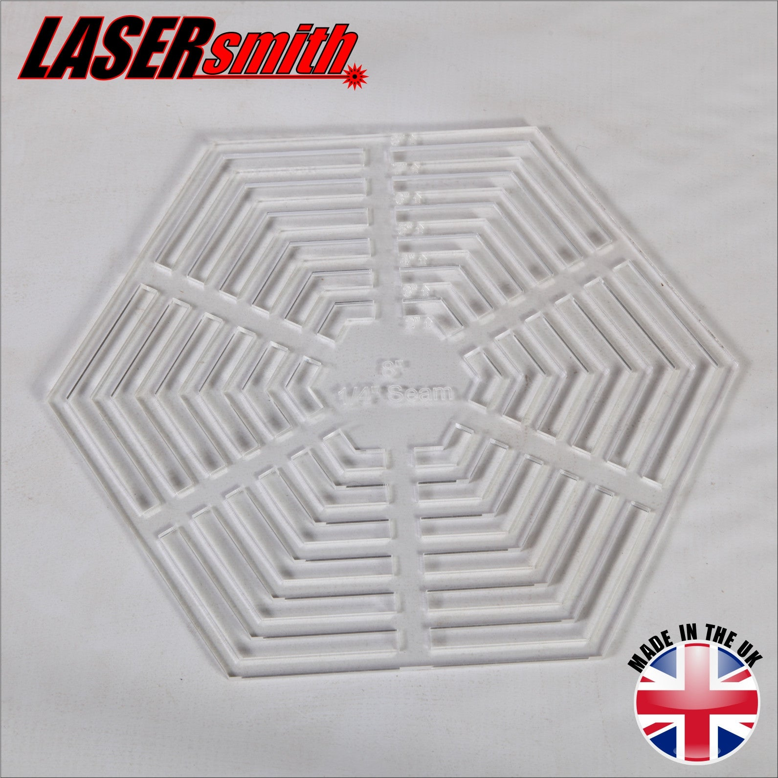Multi Size Hexagon Template - Clear Acrylic – LaserSmith