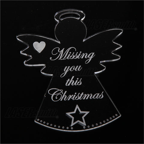 Acrylic Christmas Tree Decoration - Missing you this Christmas