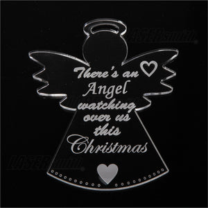Acrylic Christmas Tree Decoration - Angel Watching Over Us