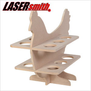 Chicken shaped egg holder