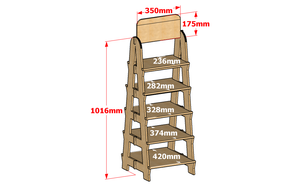 5 Tier Wooden Ladder Storage Shelf Display