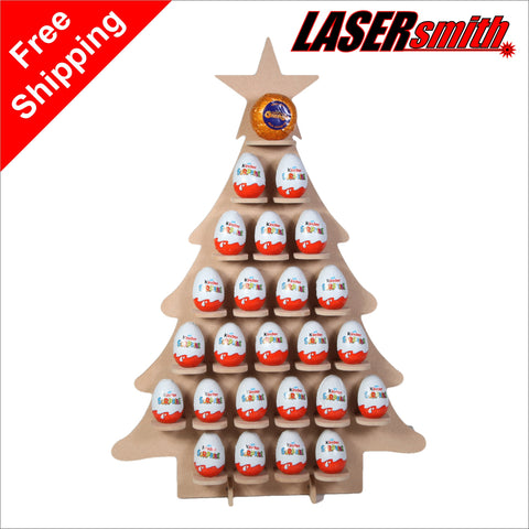 Christmas Tree Advent Calendar for Chocolate Eggs