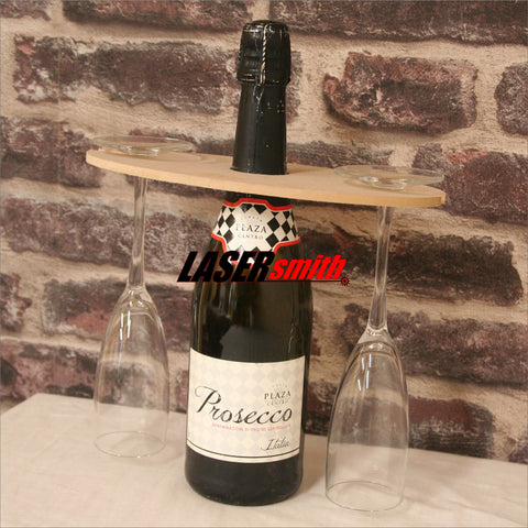 Prosecco/Champagne bottle and glass holder