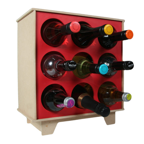 Wine Rack Holder Floor Standing Holds 9 Bottles