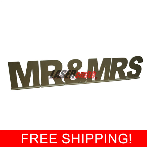 WEDDING DECOR - MR & MRS, MRS & MRS OR MR & MR FREESTANDING LETTERS