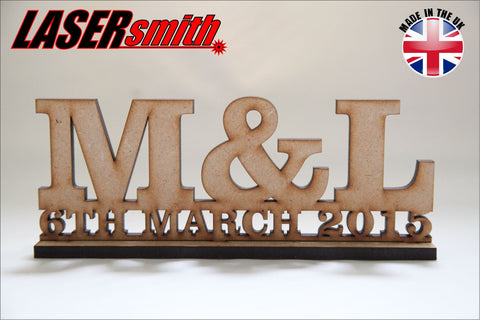 Initial & Date Table Topper