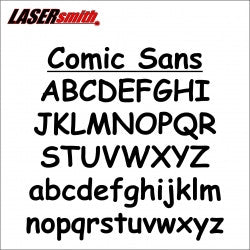 Comic Sans Font Letters and Numbers