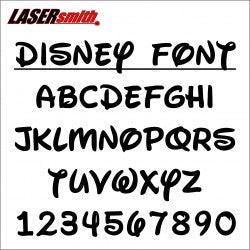 Disney Font Letters and Numbers